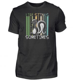 Life Stinks Sometimes Stinktier Weisheit - Herren Shirt-16