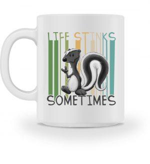 Life Stinks Sometimes Stinktier Weisheit - Tasse-3