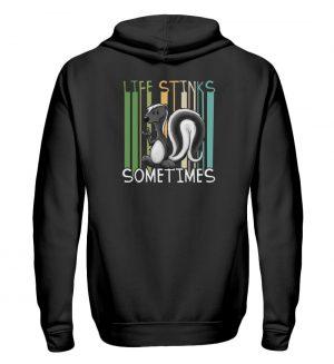 Life Stinks Sometimes Stinktier Weisheit - Zip-Hoodie-16