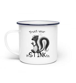 Trust Your inSTINKts Stinktier Humor - Emaille Tasse-3