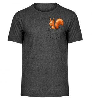 Lässiges Eichhörnchen In Tasche - Herren Melange Shirt-6808