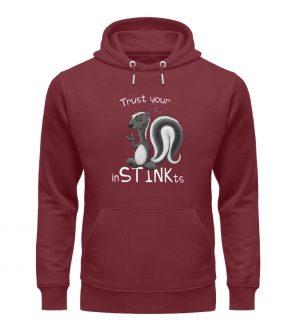 Trust Your inSTINKts Stinktier Humor - Unisex Organic Hoodie-6883