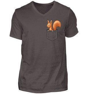 Lässiges Eichhörnchen In Tasche - Herren V-Neck Shirt-2618