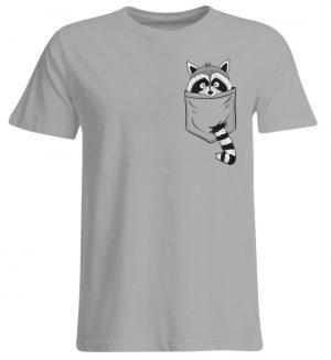 Trash-Panda Raccoon cooler Waschbär in Deiner Brust-Tasche - Übergrößenshirt-645