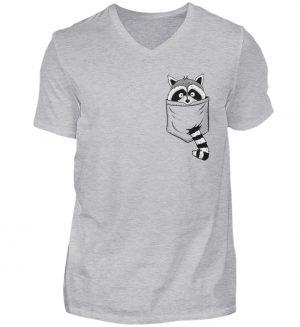 Trash-Panda Raccoon cooler Waschbär in Deiner Brust-Tasche - Herren V-Neck Shirt-17
