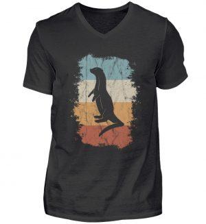 Retro Otter Fisch-Otter Silhouette - Herren V-Neck Shirt-16