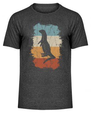 Retro Otter Fisch-Otter Silhouette - Herren Melange Shirt-6808