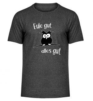 Eule gut, alles gut | witzige Eule - Herren Melange Shirt-6808