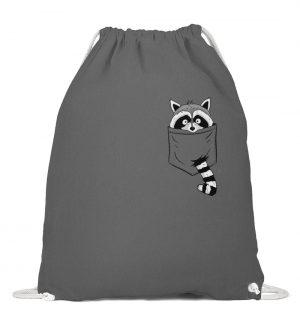 Trash-Panda Raccoon cooler Waschbär in Deiner Brust-Tasche - Baumwoll Gymsac-6760