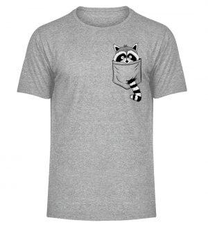 Trash-Panda Raccoon cooler Waschbär in Deiner Brust-Tasche - Herren Melange Shirt-6807