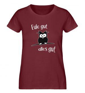 Eule gut, alles gut | witzige Eule - Damen Premium Organic Shirt-6883
