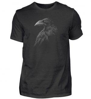 Kritzelkunst-Rabe Krähe - Herren Shirt-16