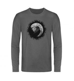 Schwarzer Rabe bei Vollmond - Unisex Long Sleeve T-Shirt-627
