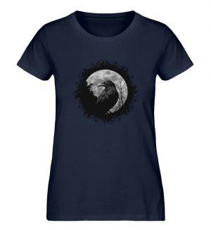 Schwarzer Rabe bei Vollmond - Damen Premium Organic Shirt-6887