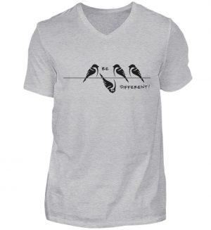 Sei anders, Kleiner Spatz - Herren V-Neck Shirt-17