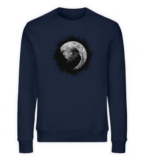 Schwarzer Rabe bei Vollmond - Unisex Organic Sweatshirt-6887