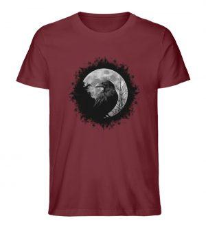 Schwarzer Rabe bei Vollmond - Herren Premium Organic Shirt-6883