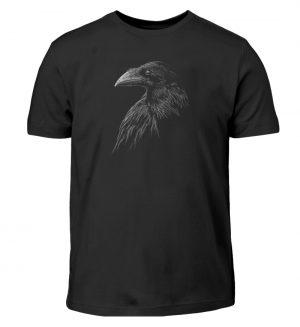 Kritzelkunst-Rabe Krähe - Kinder T-Shirt-16