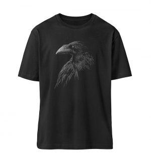 Kritzelkunst-Rabe Krähe - Organic Oversized Shirt ST/ST-16