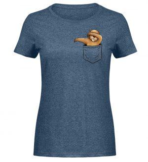 Dabbender Biber in Deiner Tasche - Damen Melange Shirt-6803
