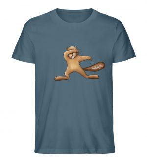 Lustiger dabbender Biber - Herren Premium Organic Shirt-6895
