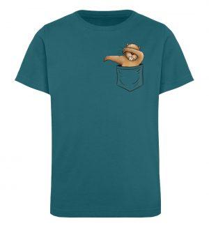 Dabbender Biber in Deiner Tasche - Kinder Organic T-Shirt-6889