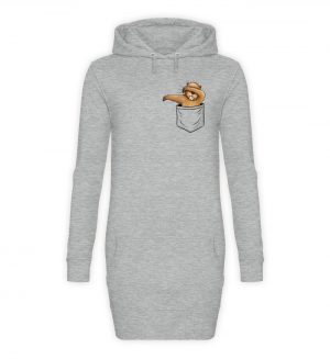 Dabbender Biber in Deiner Tasche - Damen Hoodie-Kleid-6807