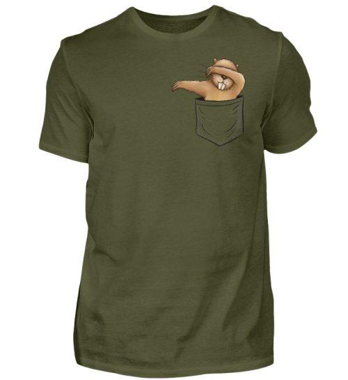 Dabbender Biber in Deiner Tasche - Herren Shirt-1109