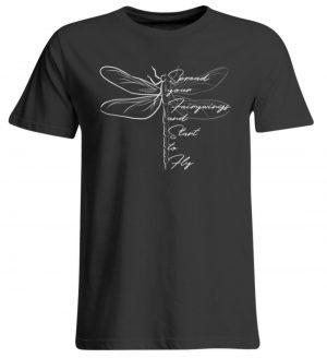 Breite die Flügel aus und flieg los | Libelle - Übergrößenshirt-639