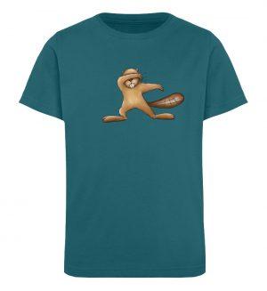 Lustiger dabbender Biber - Kinder Organic T-Shirt-6889