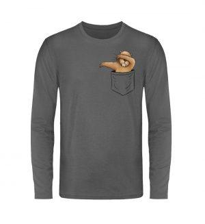 Dabbender Biber in Deiner Tasche - Unisex Long Sleeve T-Shirt-627