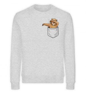 Dabbender Biber in Deiner Tasche - Unisex Organic Sweatshirt-6892