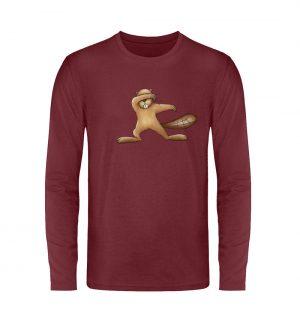 Lustiger dabbender Biber - Unisex Long Sleeve T-Shirt-6883