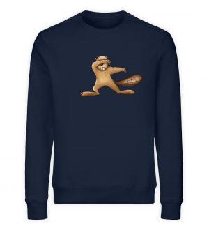 Lustiger dabbender Biber - Unisex Organic Sweatshirt-6887