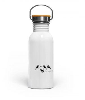 Sei anders, kleiner Spatz - Edelstahl Trinkflasche-3