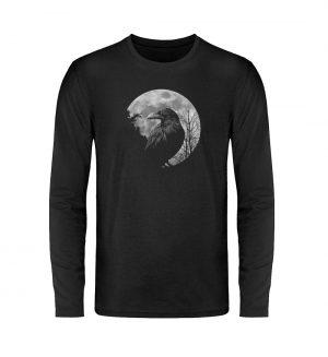 Vollmond-Rabe - Unisex Long Sleeve T-Shirt-16
