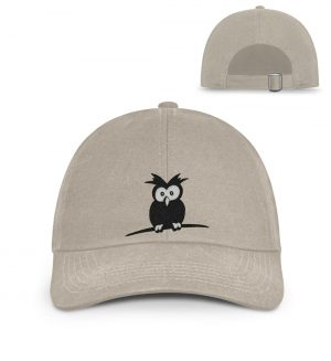 Lustige Eule   Schrulliger Kauz - Organic Baseball Kappe mit Stick-7132
