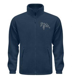 Lässig lustige Wasserschildkröte - Fleece Jacke mit Stick-6951