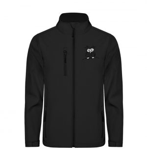 Lustige Eule - Unisex Sofshell Jacket mit Stick-16