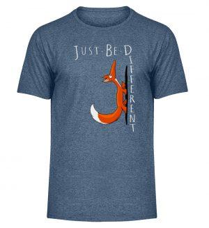 Just Be Different   Sei Anders, kleiner Fuchs - Herren Melange Shirt-6803