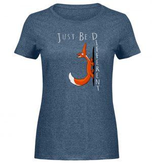 Just Be Different   Sei Anders, kleiner Fuchs - Damen Melange Shirt-6803