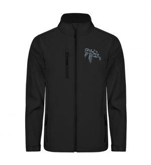 Lässig lustige Wasserschildkröte - Unisex Sofshell Jacket mit Stick-16