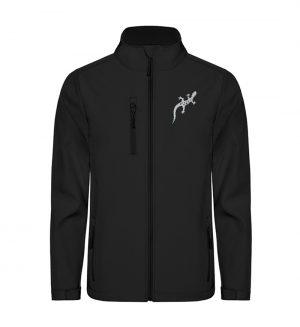 Gecko Salamander Silhouette - Unisex Sofshell Jacket mit Stick-16